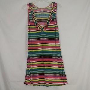 Cosabella Amore colorful striped dress. Size XL